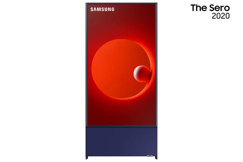 "Samsung Smart TV QLED 4K LS05T The Sero 2020 Tela Vertical Tap View Potência Sonora Comando de Voz 43"""