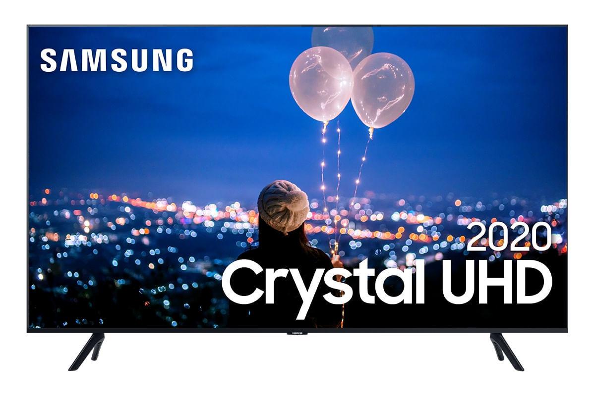 Samsung Smart TV Crystal UHD TU8000 4K, Design sem Limites, Alexa built in, Controle Único, Visual Livre de Cabos, Modo Ambiente Foto