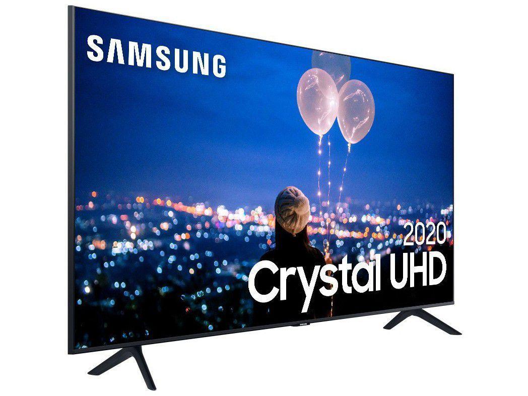 Samsung Smart TV Crystal UHD TU7020 4K 2020 Design sem Limites, Controle Remoto Único, Bluetooth