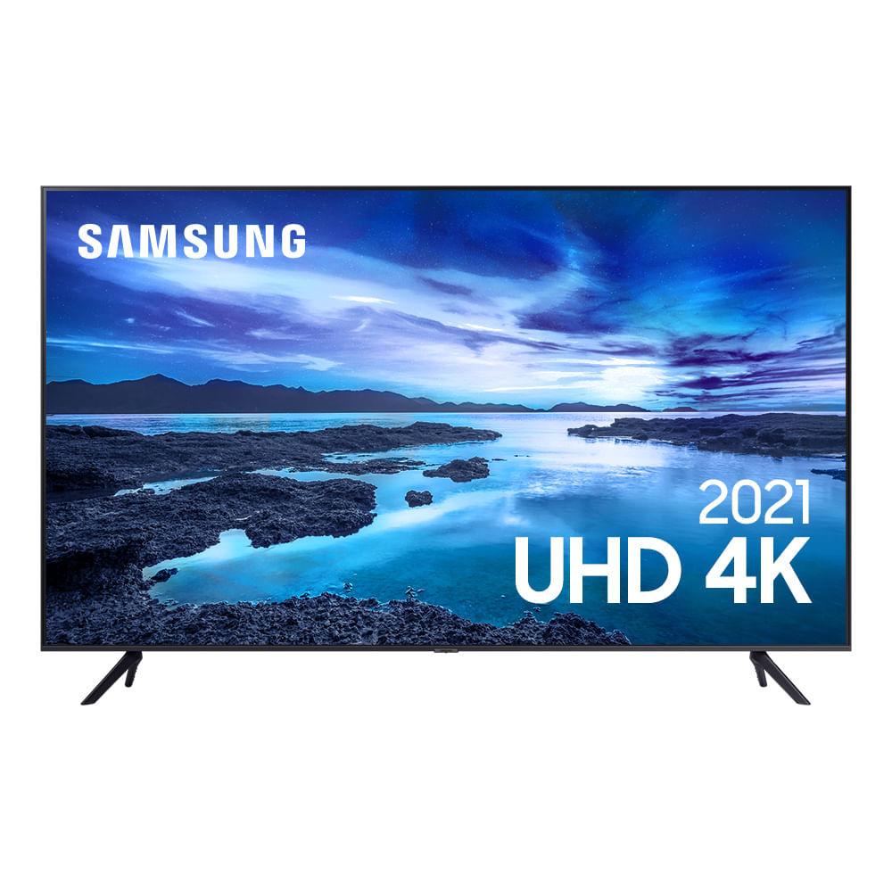 Smart TV Samsung UHD Processador Crystal 4K 50AU7700 Tela Sem Limites Visual Livre de Cabos