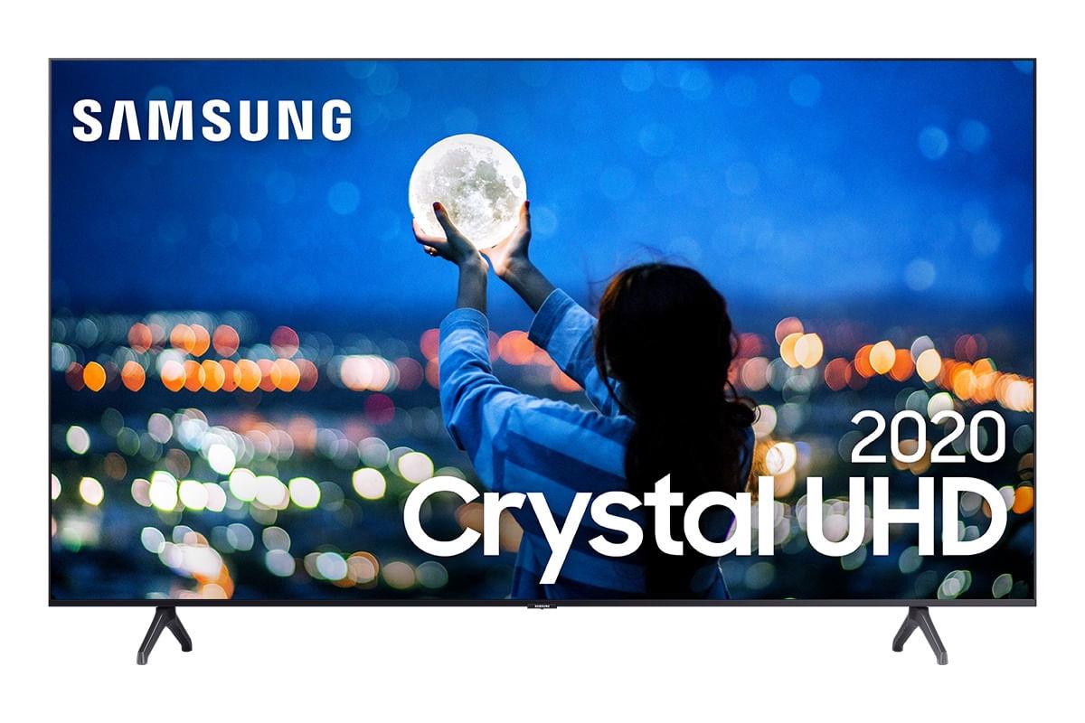 Samsung Smart TV Crystal UHD TU7000 4K, Design sem Limites, Controle Único, Visual Livre de Cabos, Bluetooth, Processador Crystal 4K