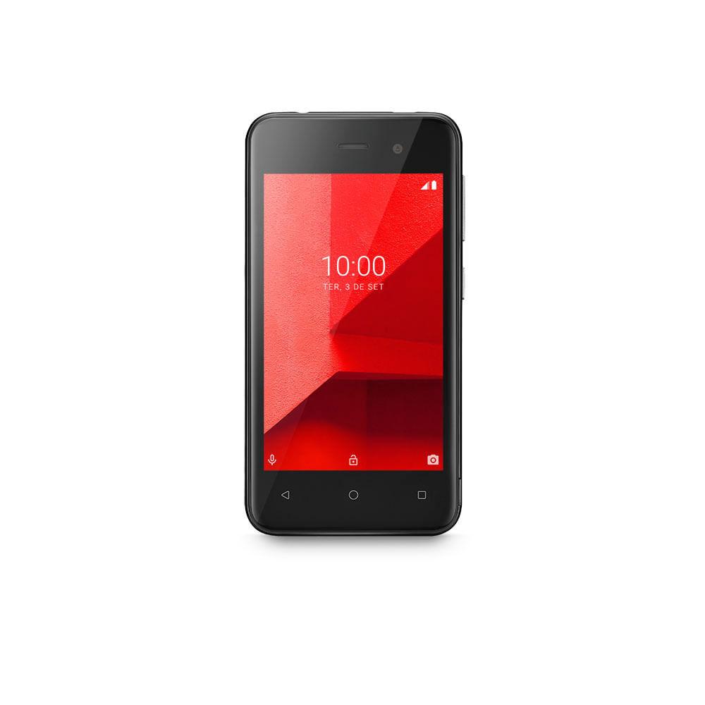 Smartphone Multilaser E Lite 32GB Preto Tela 4.0 Pol. 3G Quad Core Câmera traseira 5MP + 5MP frontal - P9126X [Outlet]