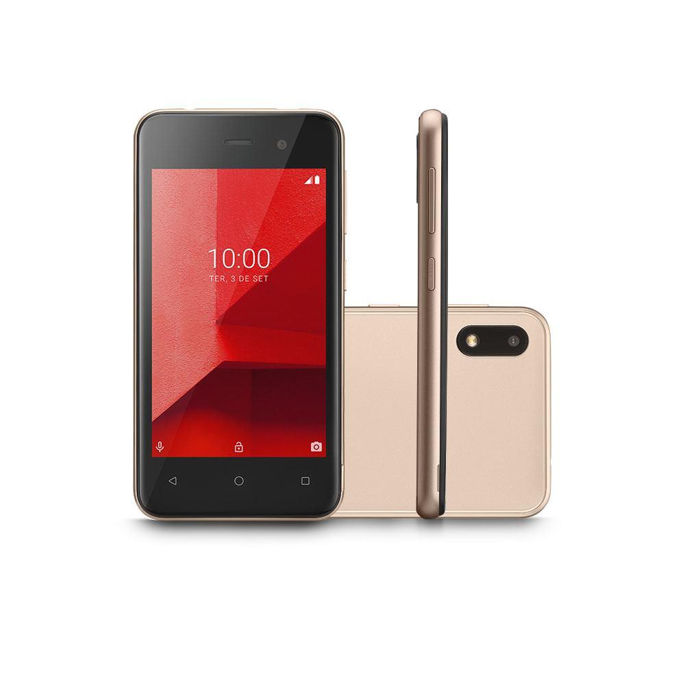 Smartphone Multilaser E Lite 3G 16GB Tela 4.0 Quad Core Câmera traseira 5MP + 5MP frontal Dourado - P9100