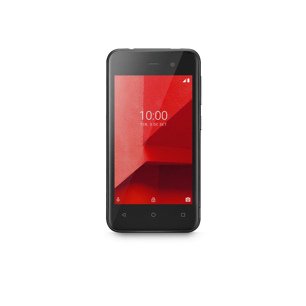 Smartphone Multilaser E Lite 3G 16GB Tela 4.0 Quad Core Câmera traseira 5MP + 5MP frontal Preto - P9099