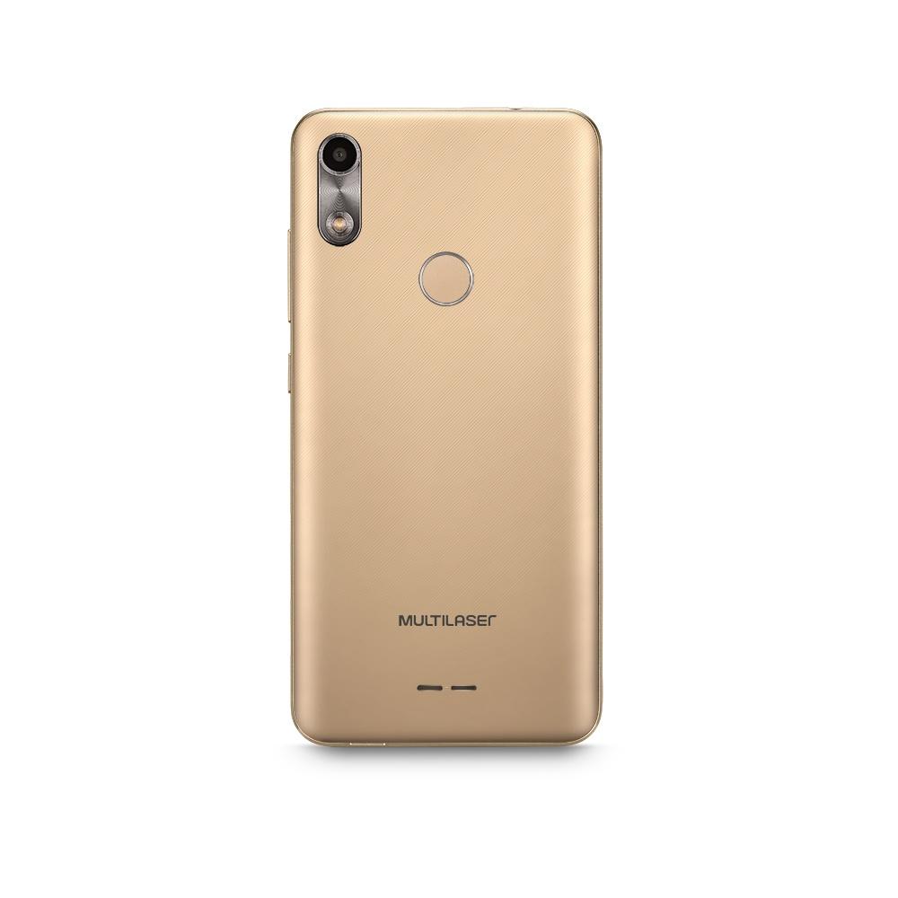 Smartphone Multilaser F 3G 16GB 1GB Tela 5.5 Sensor de Digitais Câmera traseira 5MP + 5MP frontal Dourado - P9106