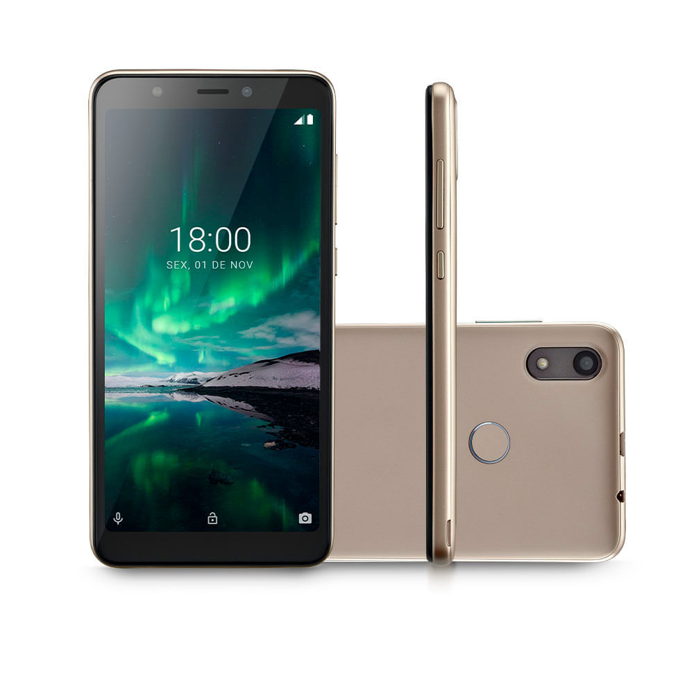 Smartphone Multilaser F Pro 4G 16GB + 1GB RAM Android 9 Dual Chip Dourado - P9119