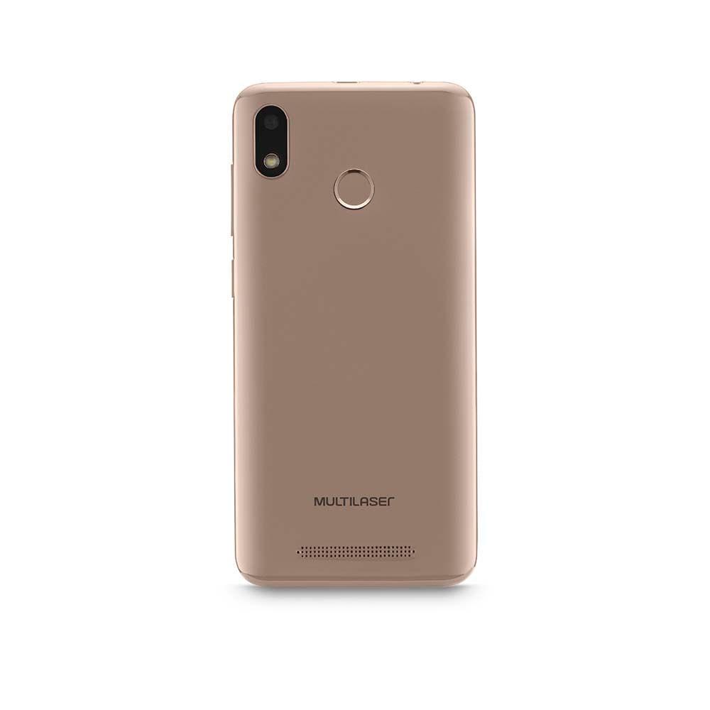 Smartphone Multilaser G 4G 16GB Tela 5.5 Processador Octa Core Sensor de Digitais Android 9.0 GO Dourado - P9096