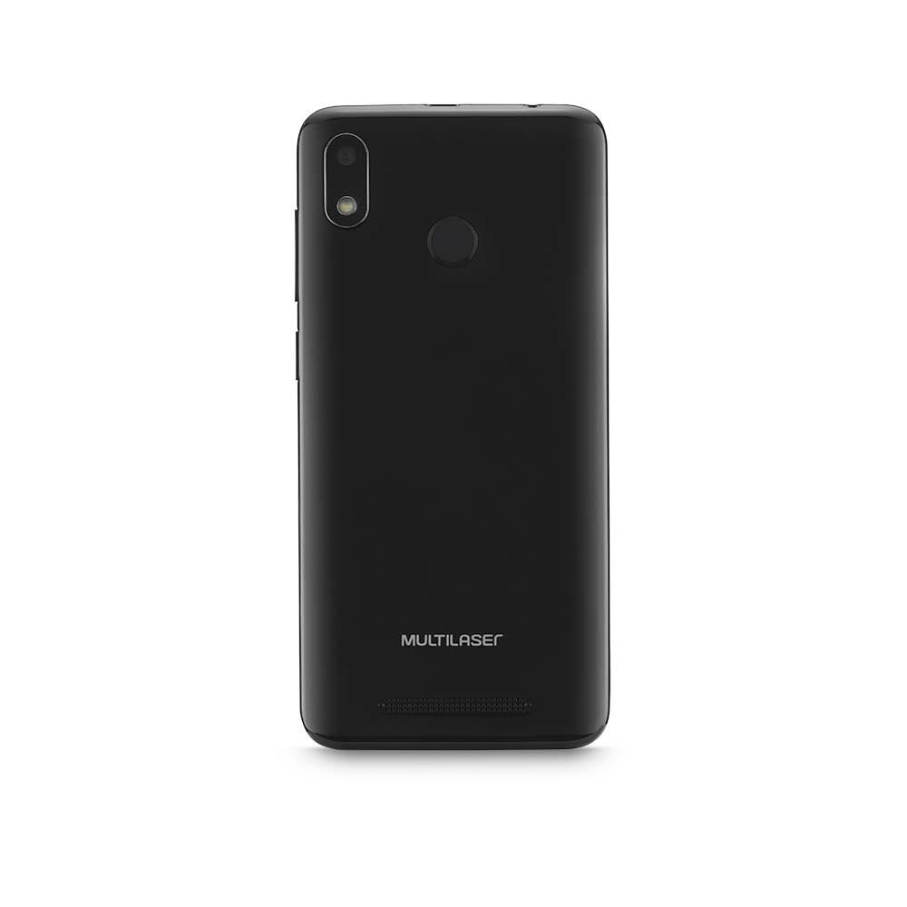 Smartphone Multilaser G 4G 16GB Tela 5.5 Processador Octa Core Sensor de Digitais Android 9.0 GO Preto - P9095