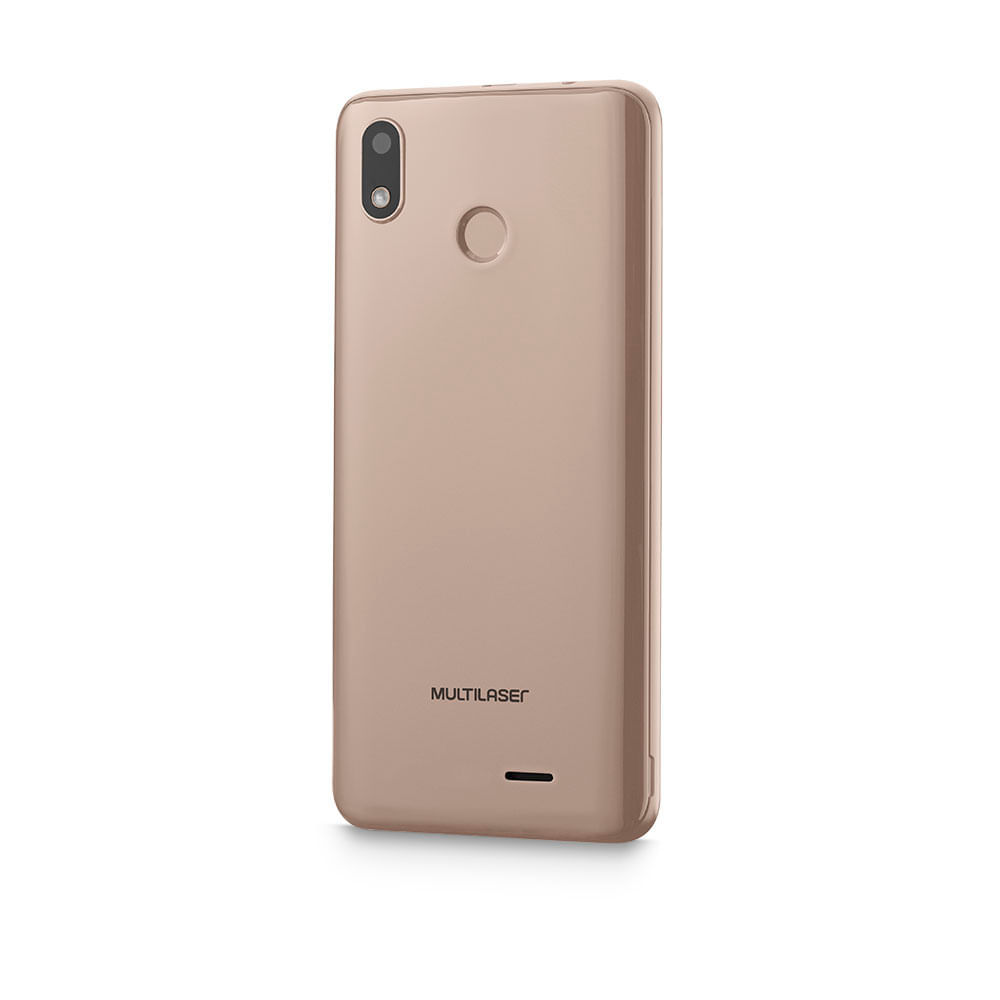Smartphone Multilaser G Max 4G 32GB 1GB Ram Tela 6.0 Pol. Octa Core Android 9.0 GO Dourado - P9108