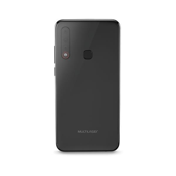 Smartphone Multilaser H 4G 128GB 6GB RAM Tela 6,3 Pol. Full HD Câmera Tripla Traseira + Selfie Preto - P9116