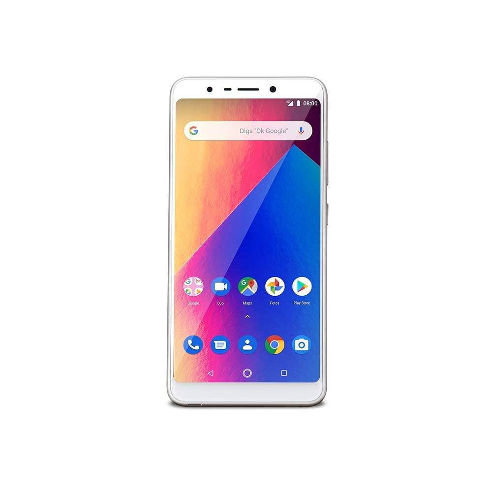 Smartphone Multilaser Ms60X Plus 2GB 16GB Tela 5,7 Pol. Android 8.1 Camera 13Mp+8Mp Dourado/Branco - P9084