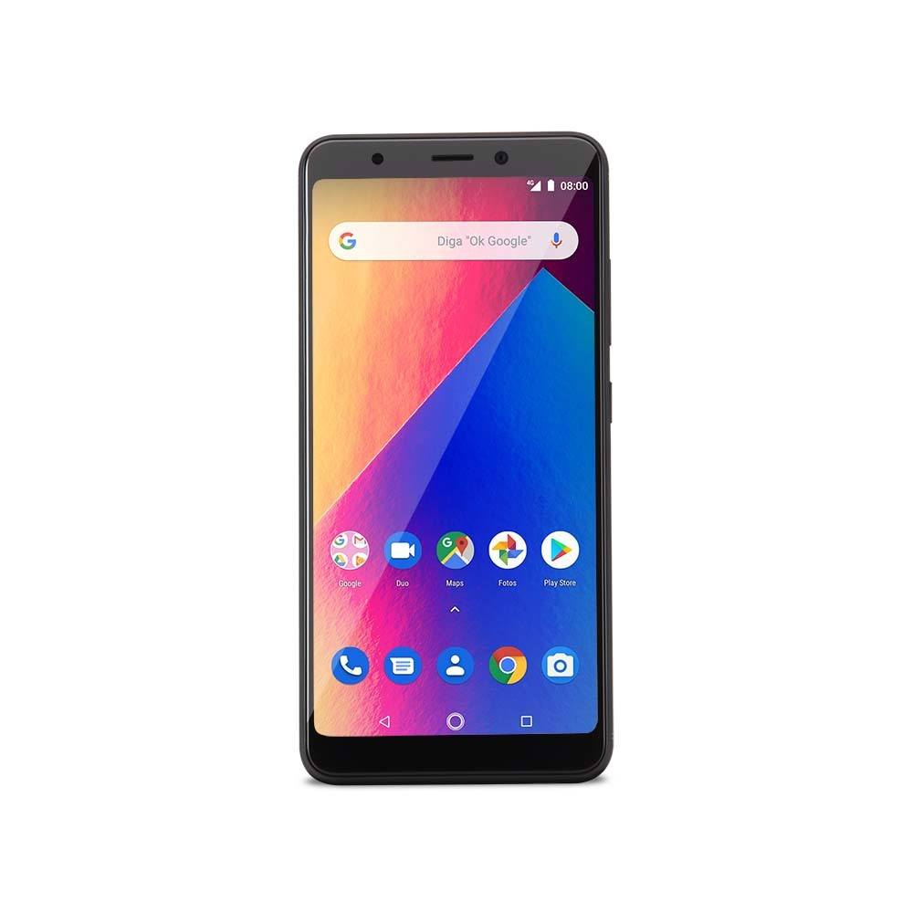 Smartphone Multilaser Ms60X Plus 2GB 16GB Tela 5,7 Pol. Android 8.1 Câmera 13Mp+8Mp Preto - P9083