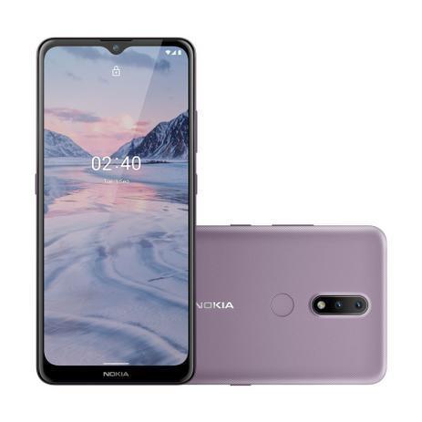 Smartphone Nokia 2.4 Android 11, Tela 6,5 Pol. Câm Traseira Dupla 13MP + 12MP, Armazenamento 64GB + 3GB RAM Roxo - NK016