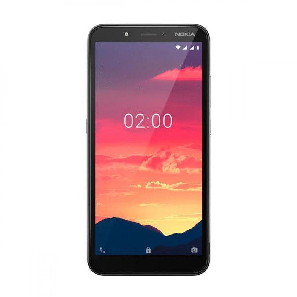 Smartphone Nokia C2 32GB*, 1GB RAM, Tela de 5,7 Pol.HD+, Câmera Dupla traseira 5MP+ Flash Frontal - Carvão NK010