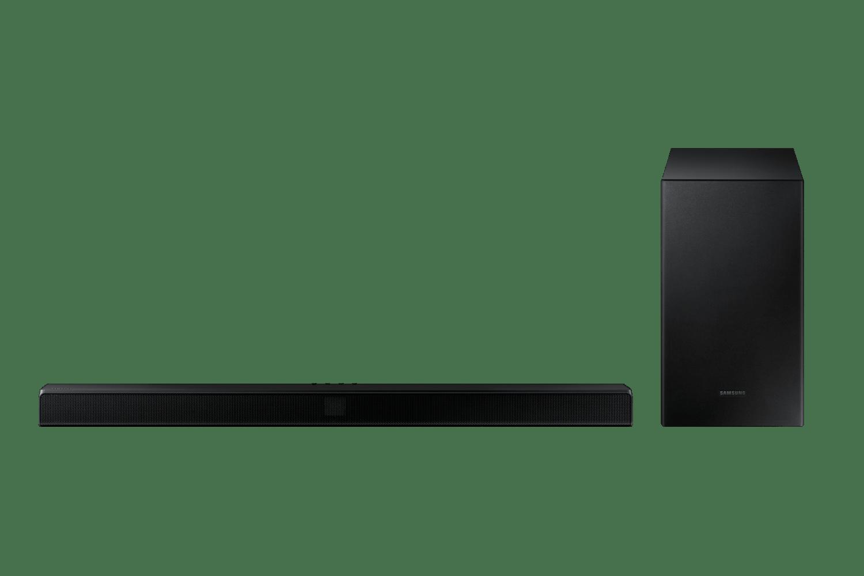 Soundbar Samsung HW-T550, 2.1 canais, potência de 320W, Bluetooth, Subwoofer sem fio e DTS Virtual:X