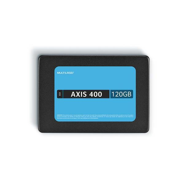 SSD Multilaser 2,5 120GB AXIS 400 GRAVAÇÃO 400 MB/S - SS101