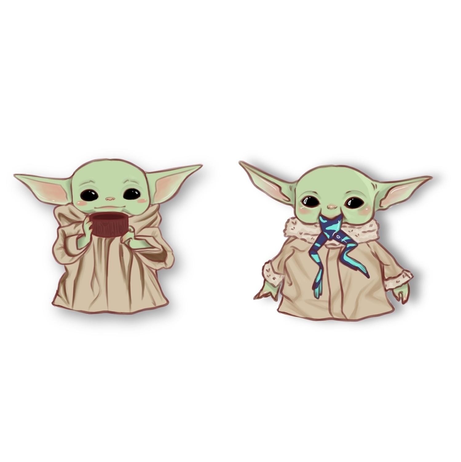 Stickers Baby Yoda