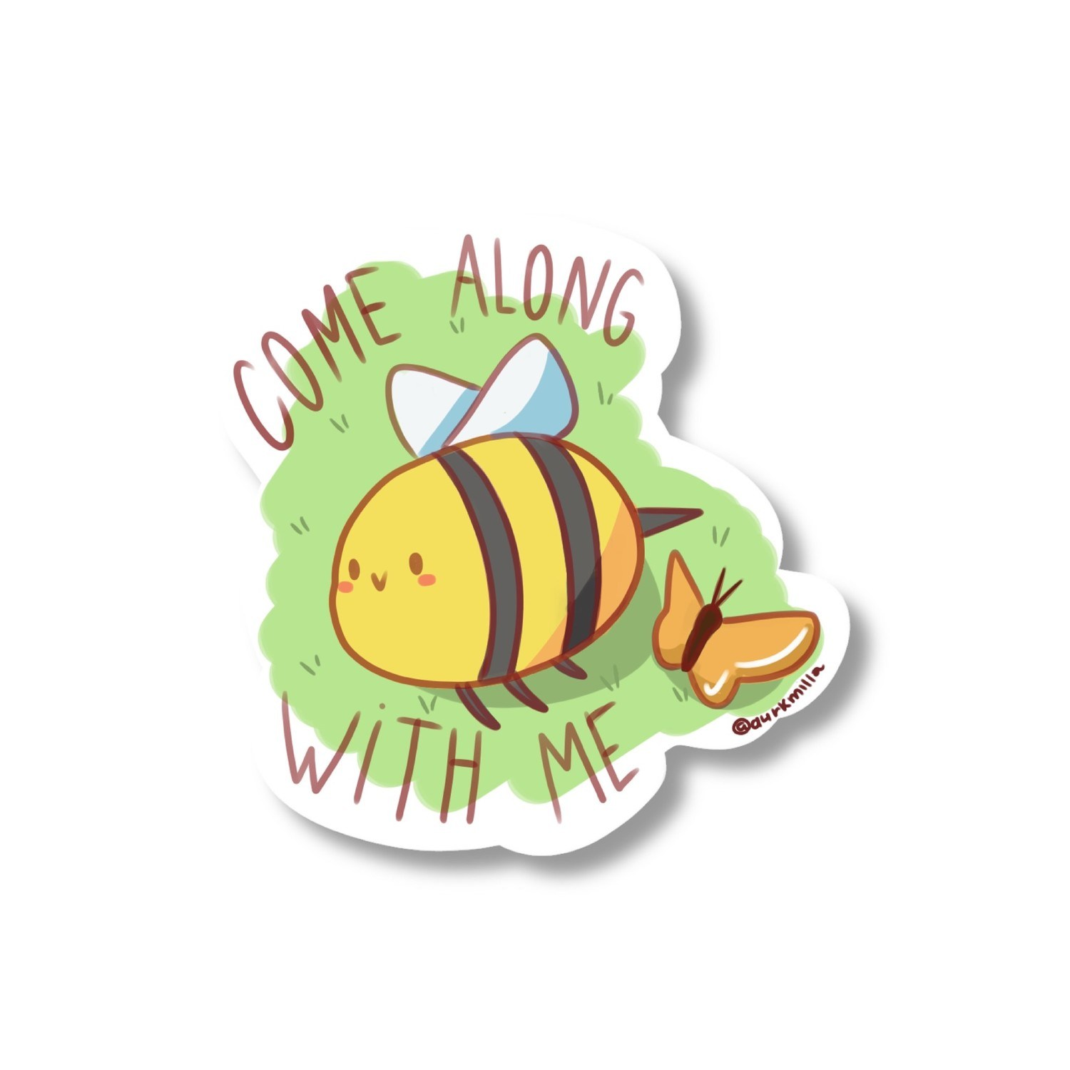 """Sticker """"Come along with me"""""""
