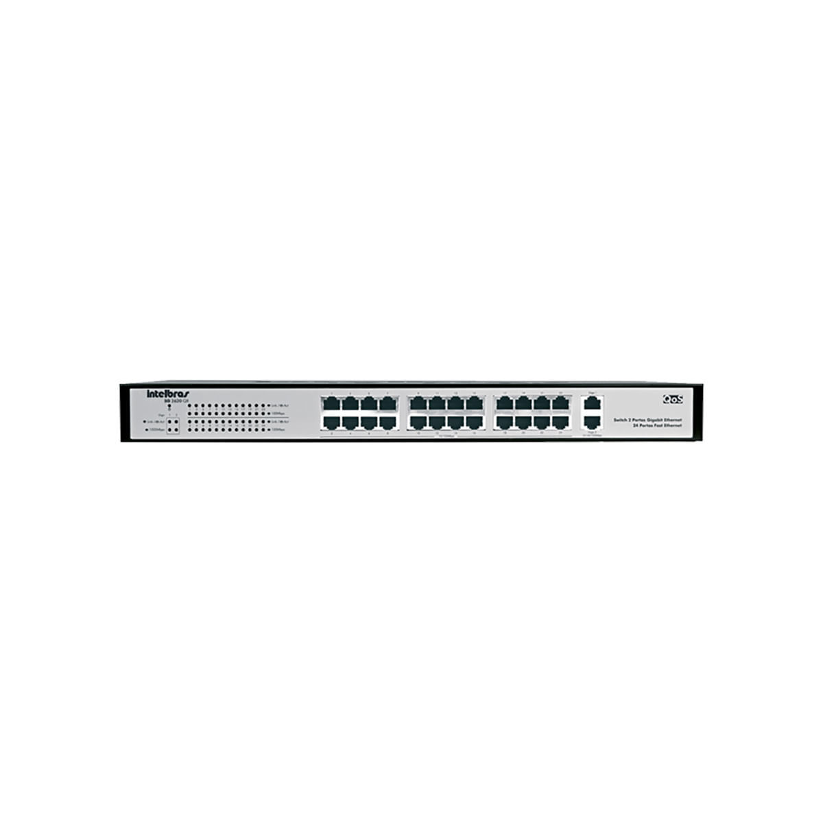 Switch Intelbras 24p fast2 Giga qos - SG2620 QR
