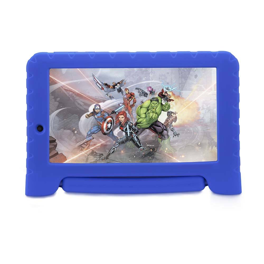 Tablet Multilaser Disney Vingadores Plus Wifi 8Gb Android 7 Dual Câmera Azul  - NB280