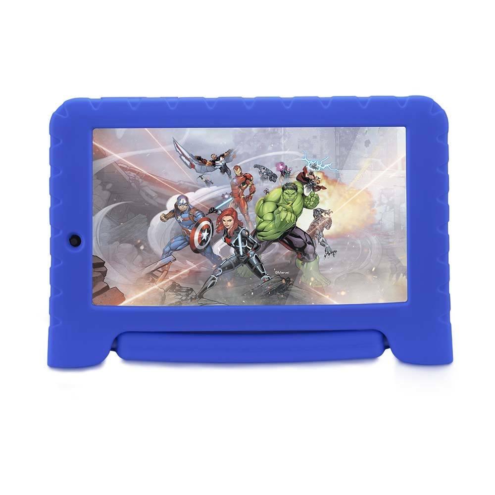 Tablet Multilaser Disney Vingadores Plus Wifi 8Gb Android 7 Dual Câmera Azul  - NB280
