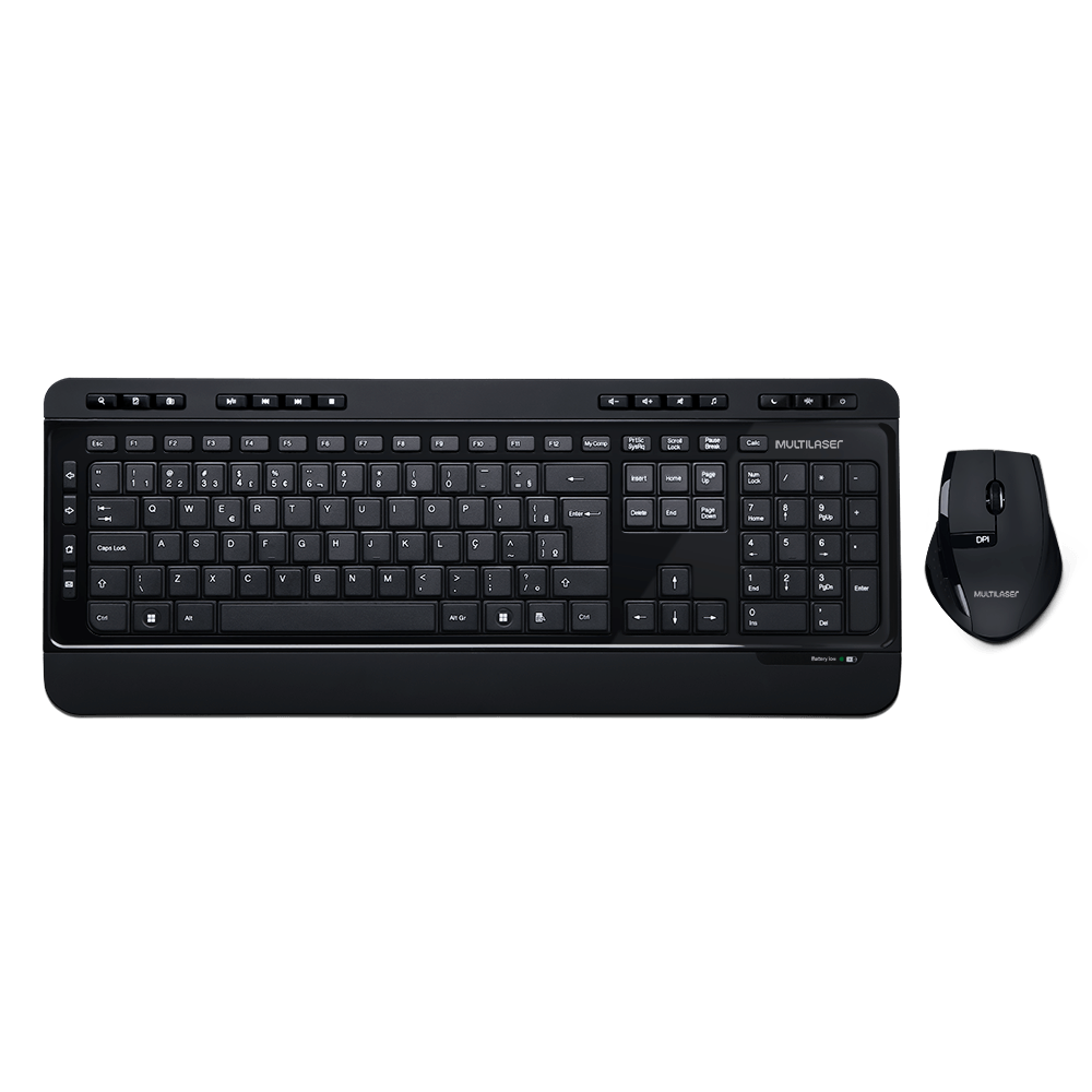 Teclado e Mouse Multilaser Super Multimídia USB - TC215