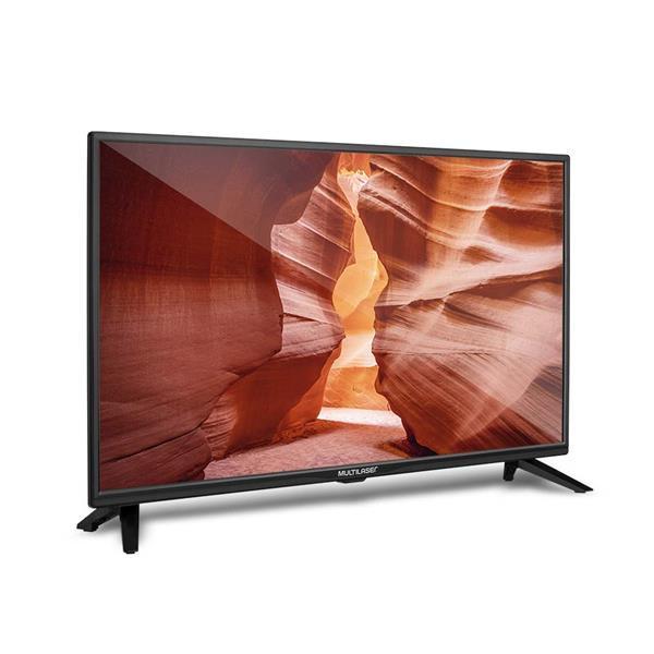 Tela 24 Pol. HD Multilaser Entradas USB + HDMI + Gravador e Conversor TV Digital - TL016