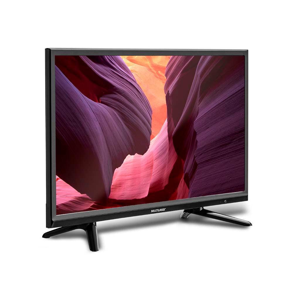 Tela 24 Pol. HD Multilaser Entrada USB VGA + Conversor TV Digital e Gravador Digital - TL010