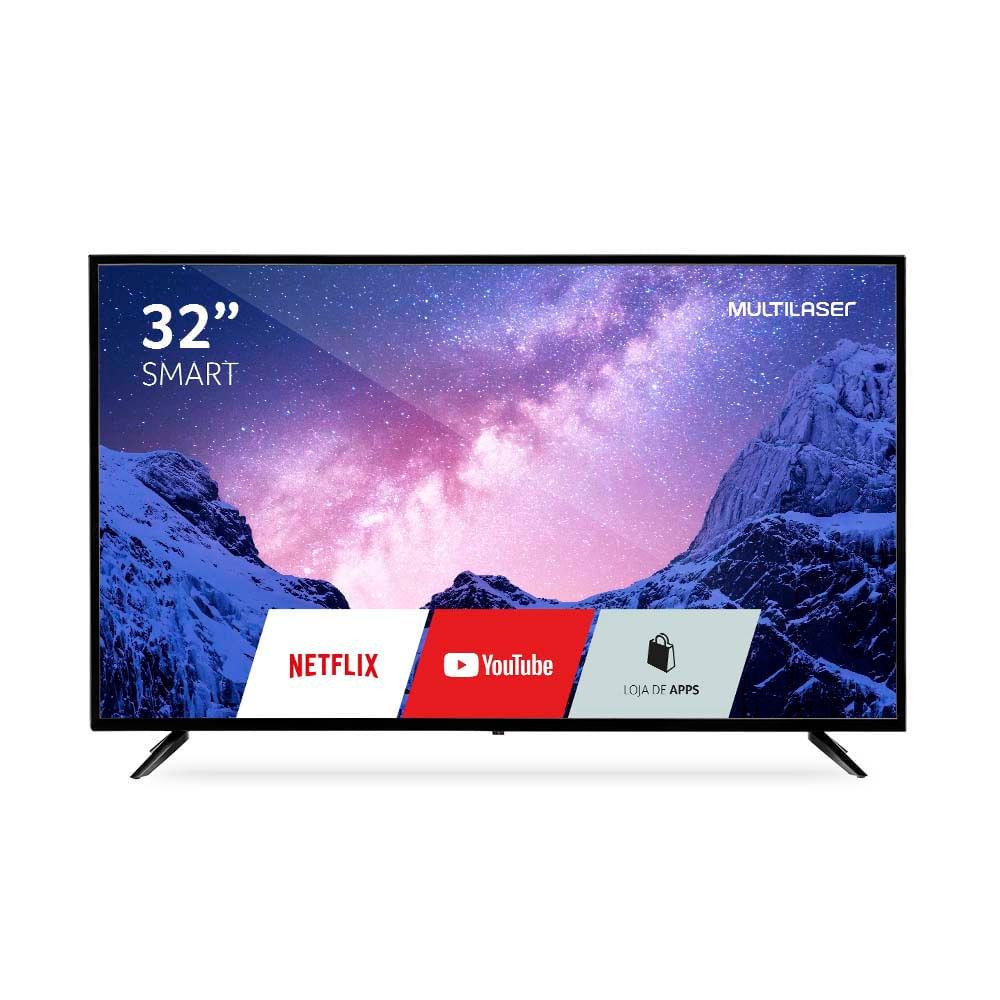 Tela 32 Pol. HD Com função DNR, Smart E Wifi Integrado Entradas HDMI/USB/RJ45/AV  Multilaser - TL026