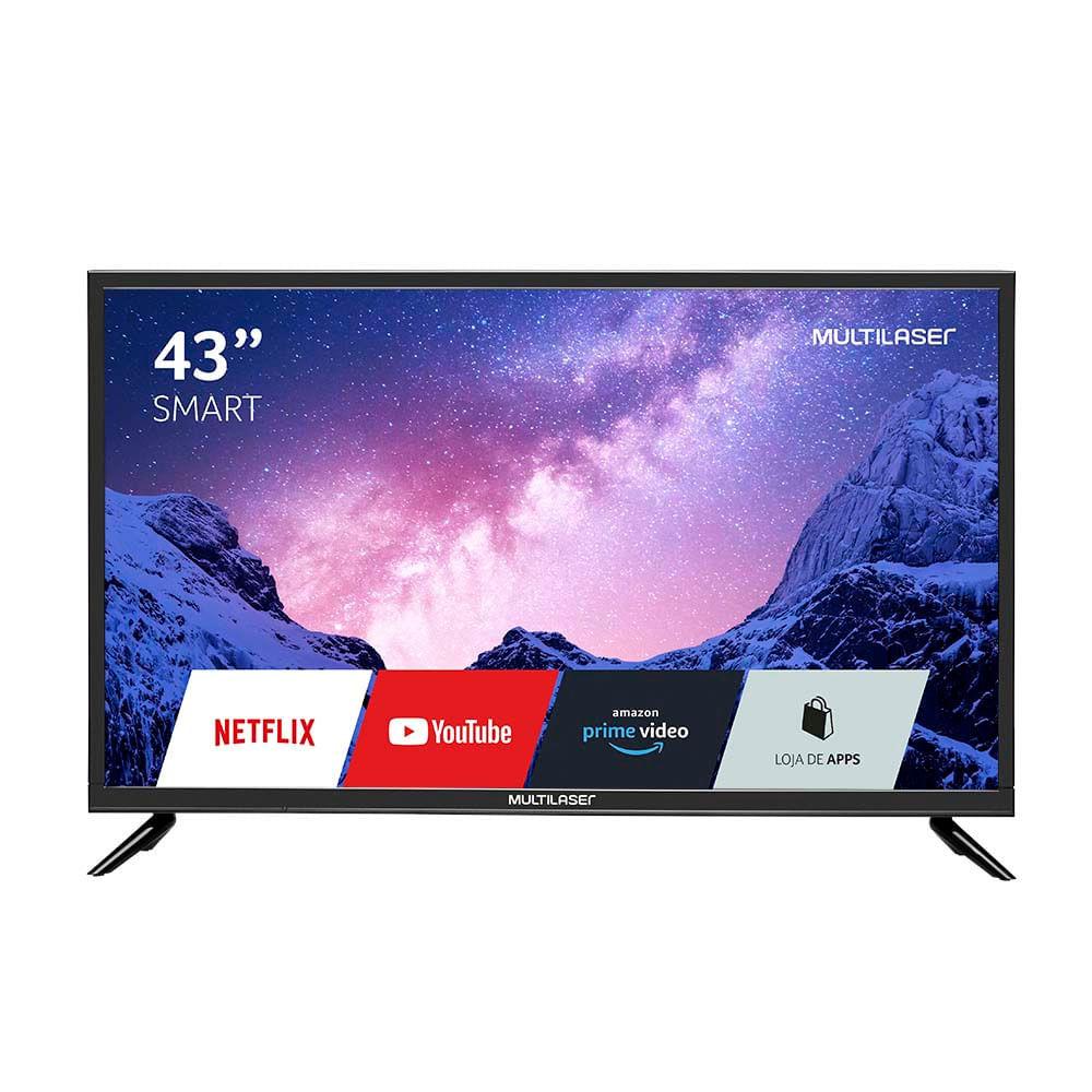 Tela 43 Pol. Full HD Com Função Smart E Wifi Integrado Entradas HDMI + USB + RJ45 + AV- TL024OUT [Reembalado]