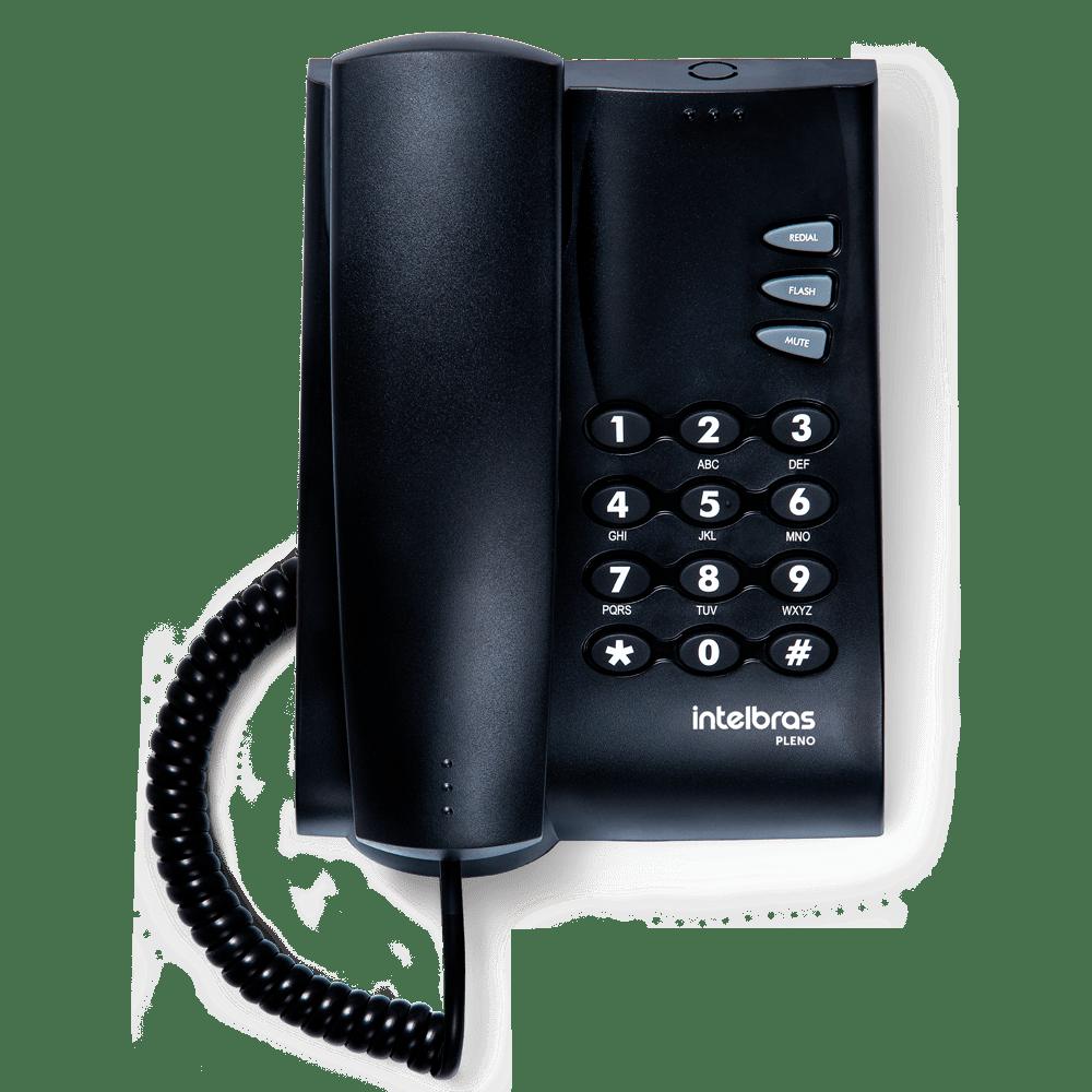 Telefone com Fio Intelbras Pleno sem chave Preto