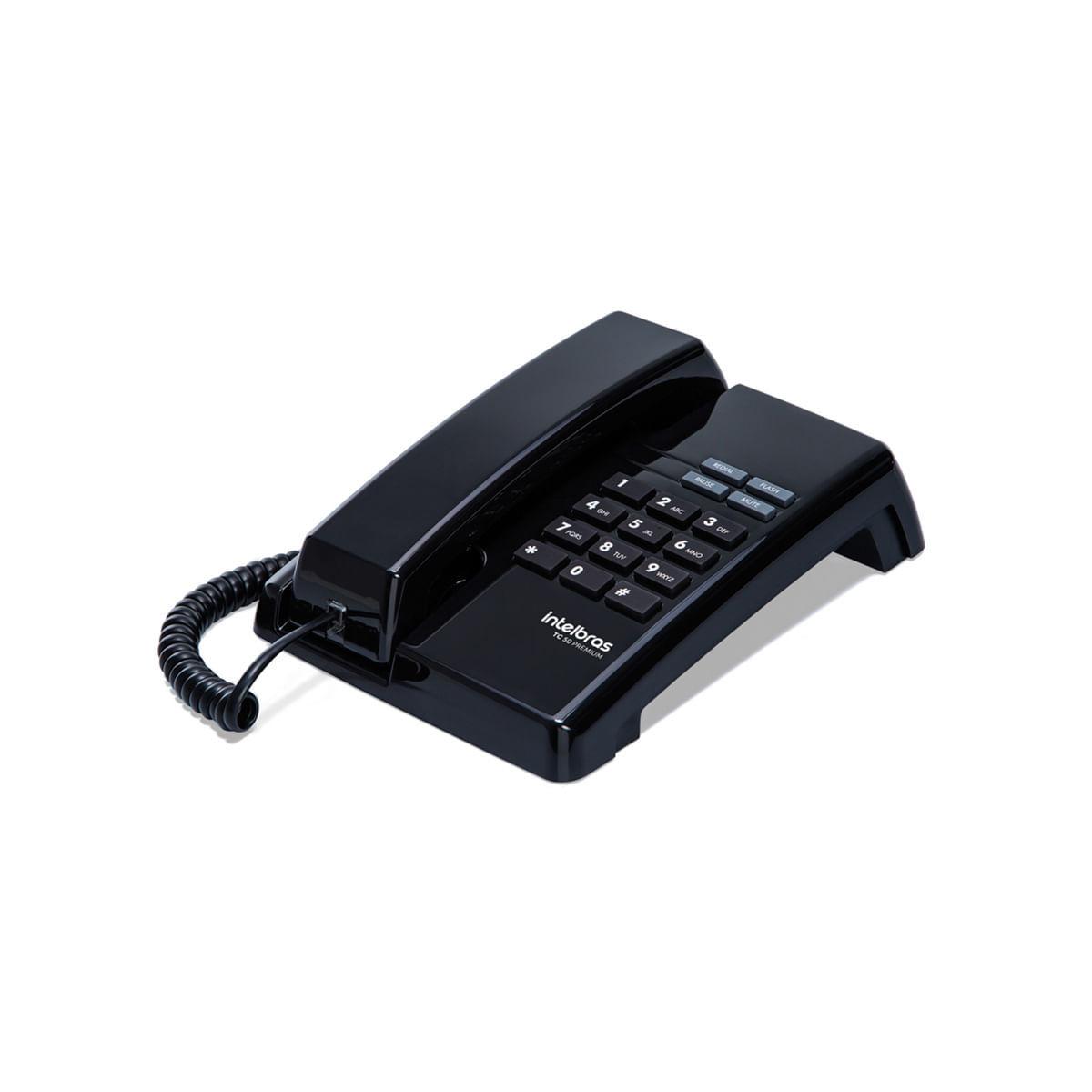 Telefone com Fio Intelbras TC 50 Preto