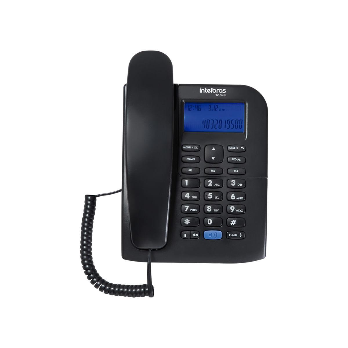 Telefone com Fio Intelbras TC 60 ID preto