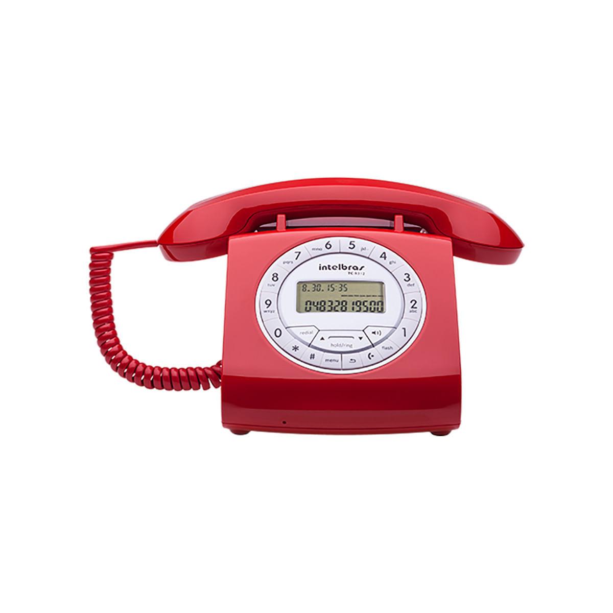 Telefone com Fio Intelbras TC 8312 Vermelho