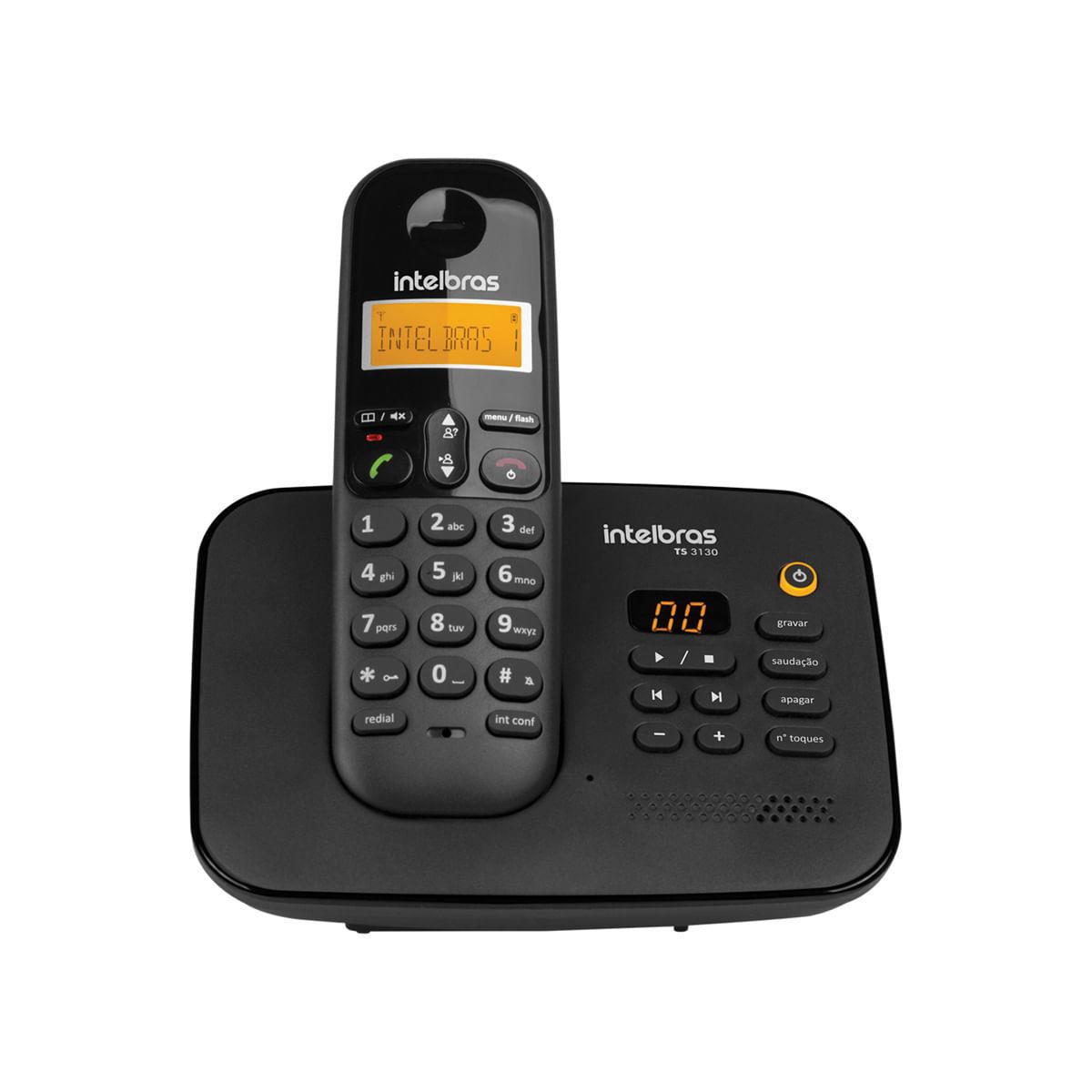 Telefone sem Fio Digital com Secretária Eletrônica Intelbras TS 3130