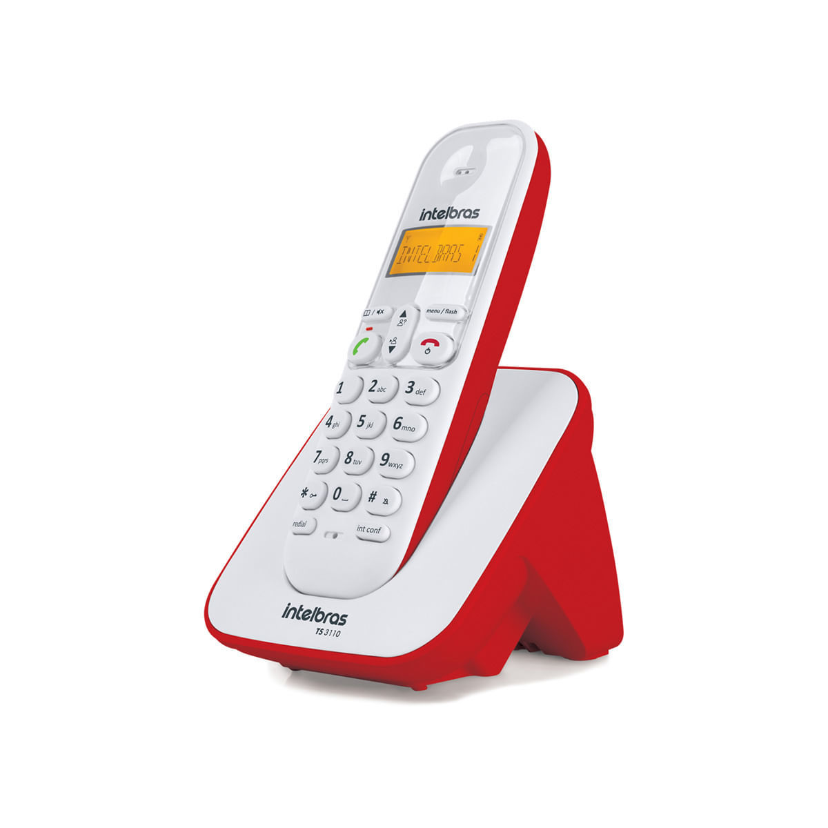 Telefone sem Fio Digital Intelbras TS 3110 Vermelho