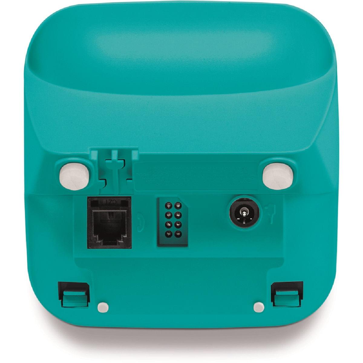 Telefone Sem fio Intelbras  3110 - Branco com Azul Claro