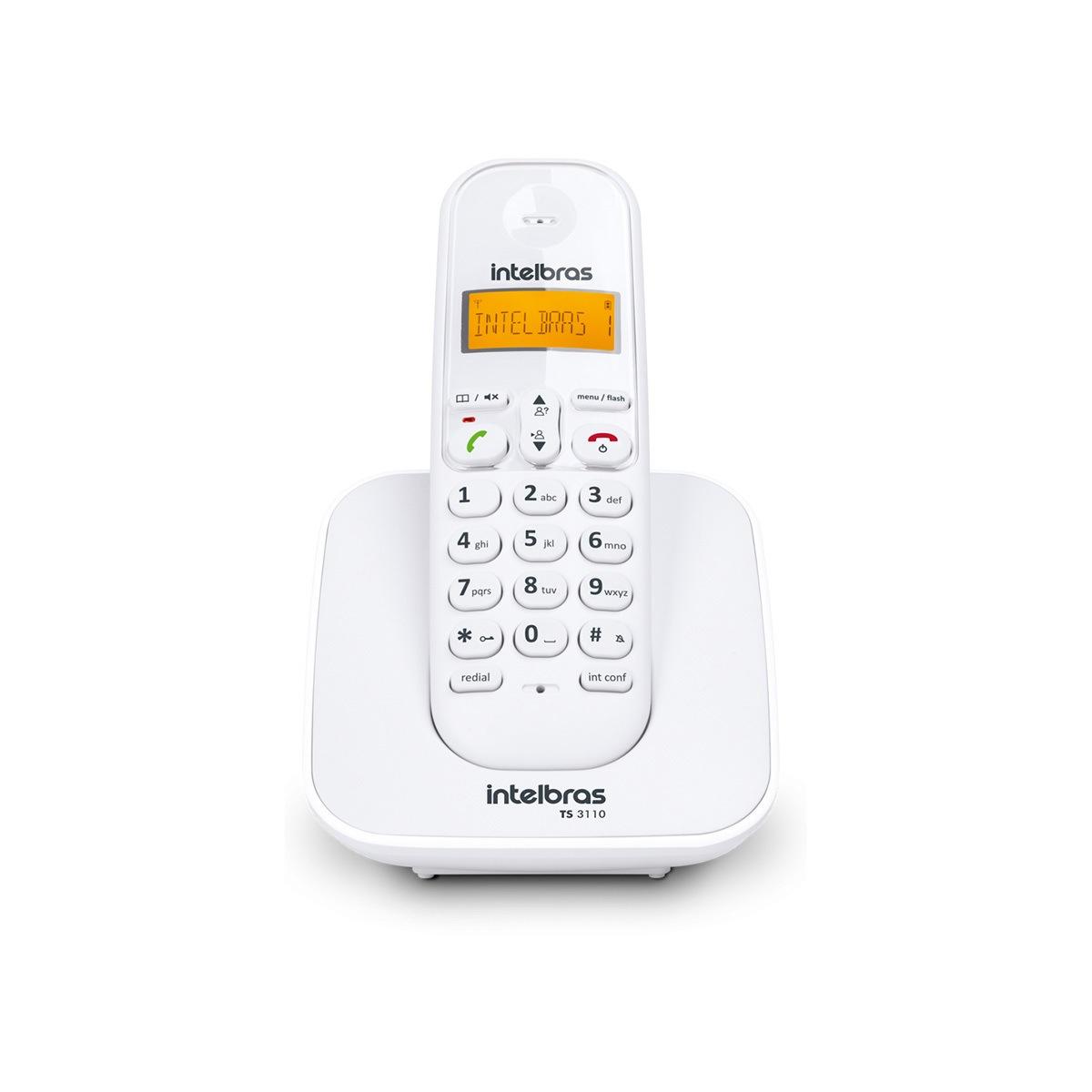 Telefone sem Fio Intelbras TS 3110 Branco