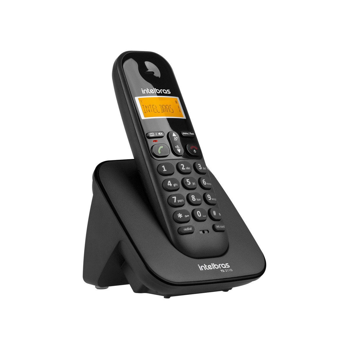 Telefone sem Fio Intelbras TS 3110 Preto