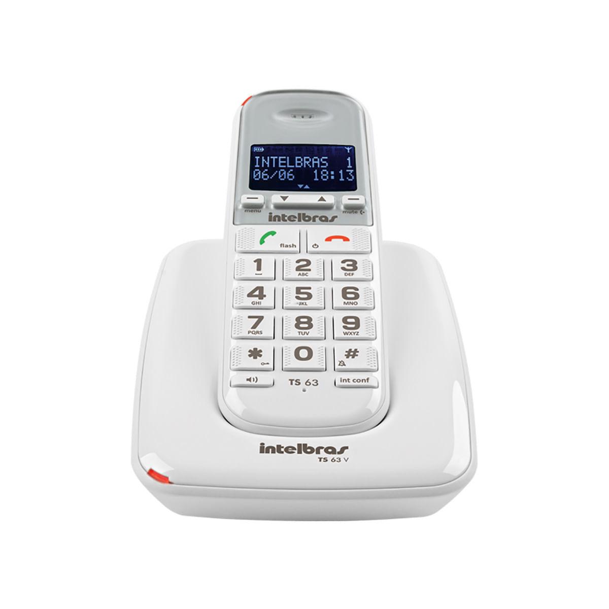Telefone sem Fio Intelbras TS 63 V - Branco