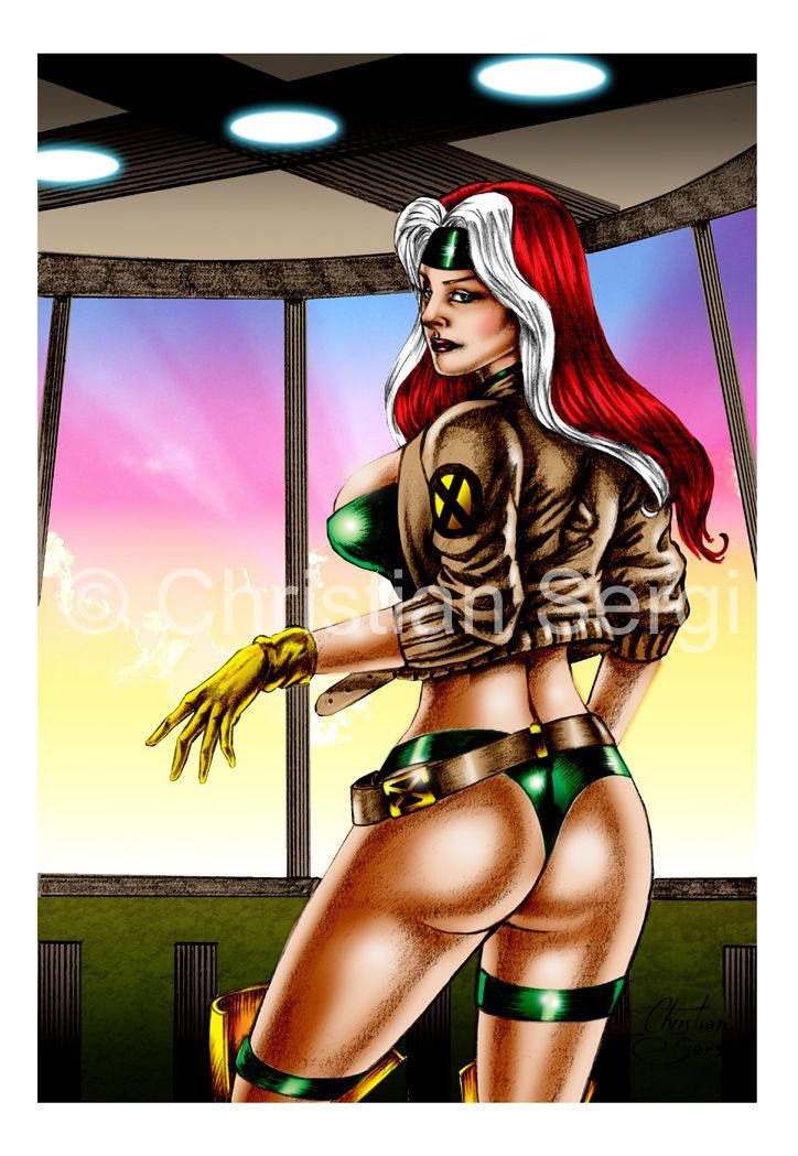 The most beautiful warriors of Christian Sergi: comics art & sketche