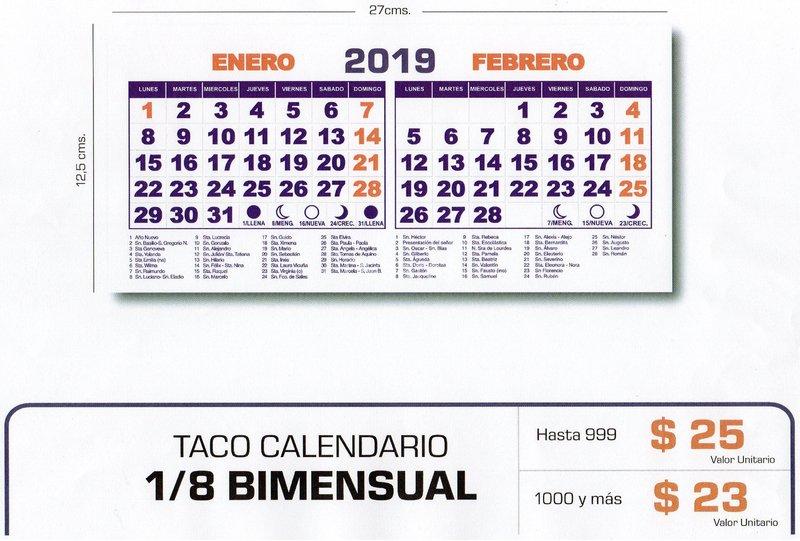 Calendario Santoral 2019.Fabrica De Tacos Y Calendarios Personalizados Quinta Normal