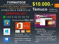 FORMATEOS DE NOTEBOOK Y PC DE ESCRITORIO