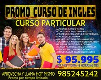 PROMO DE INGLES A SOLO $ 95.995 POR MES- 16 HORAS