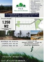 Condominio con grandes sitios desde 1.250 m2 a 3 k