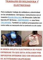 Trabajos de soldadura y electricidad