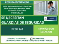 Se necesitan Guardias URGENTE EN HUECHURABA