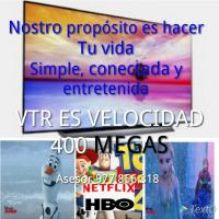 Internet 400 mega inlimitado más TV HD