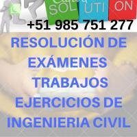 Asesoría en Estática, Resistencia de Materiales.