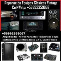Reparación amplificador parlantes deck tocadiscos